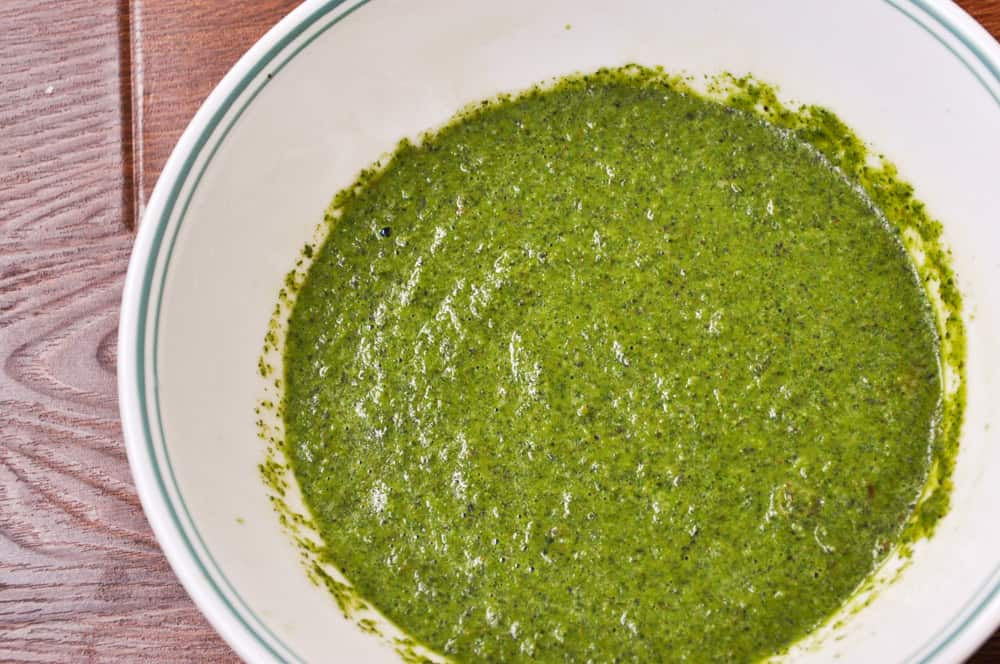 Mint chutney is ready.