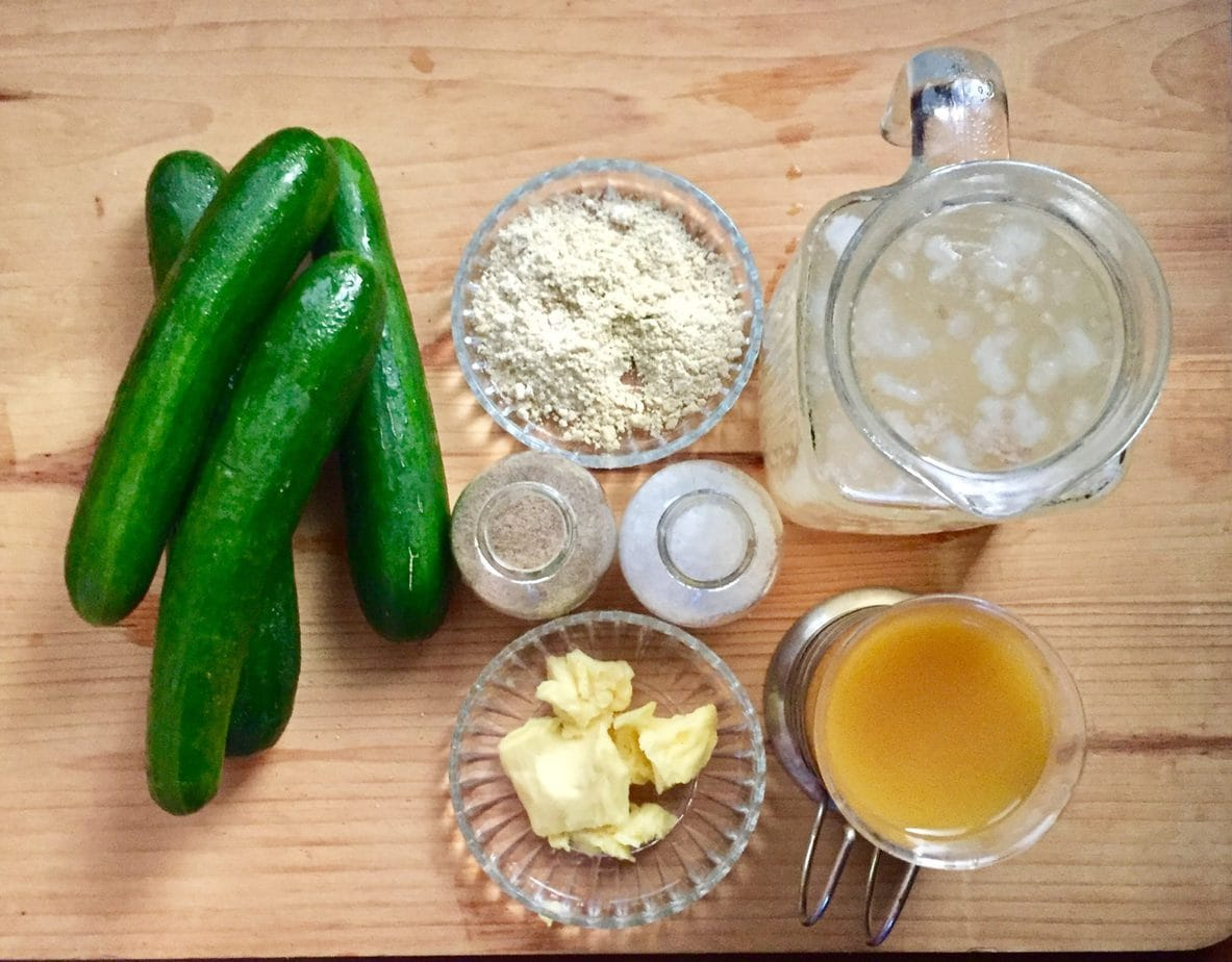 ingredients for hot cucumber soup