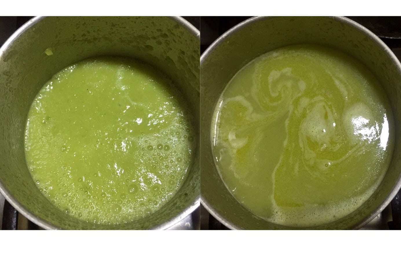 Blend cucumber for soup