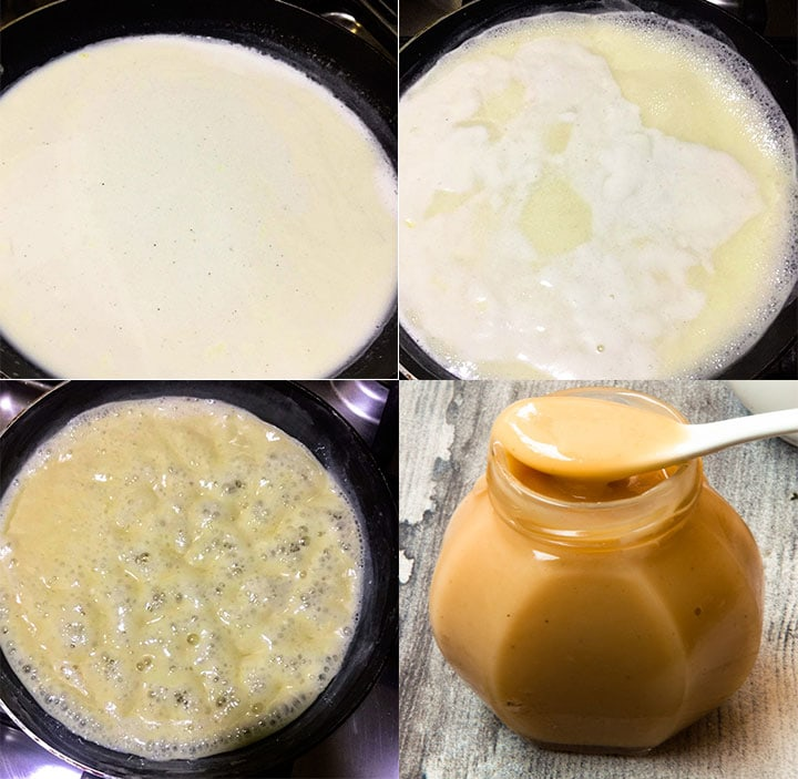 Steps to make sweetened condensed milk