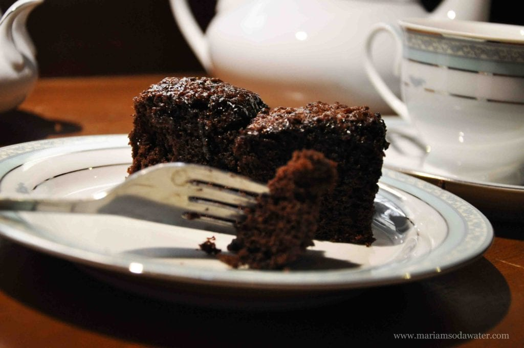 brownie with cocoa powder