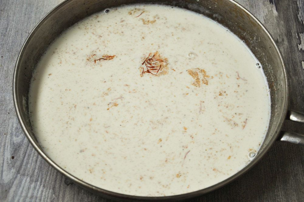 Boil Milk For shahi tukda.