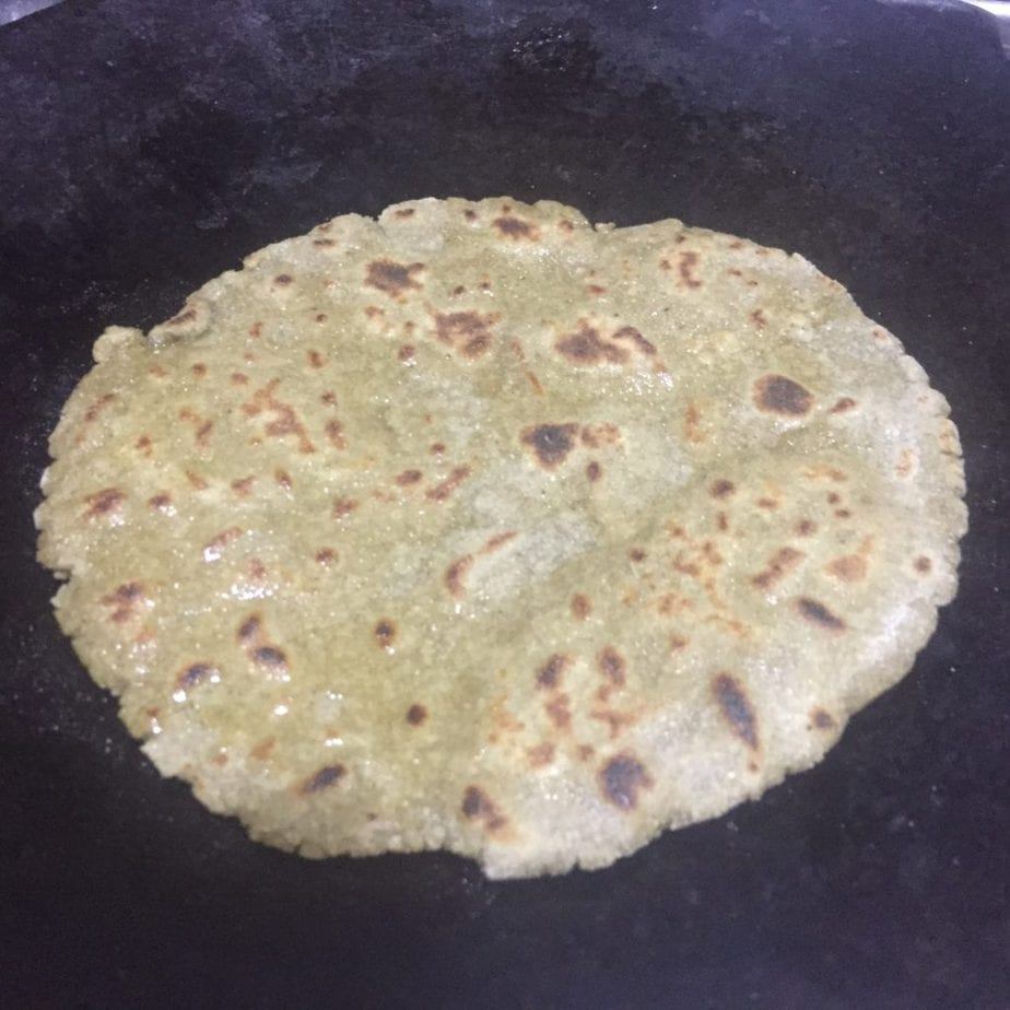 You may fry the roti on tawa with little oil.