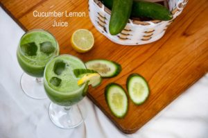 Cucumber juice with honey
