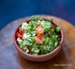 cheery tomato spinach cheese salad