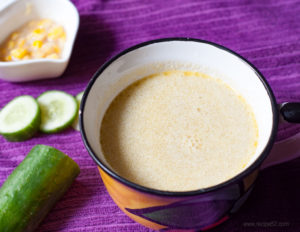 Cucumber coconut soup recipe