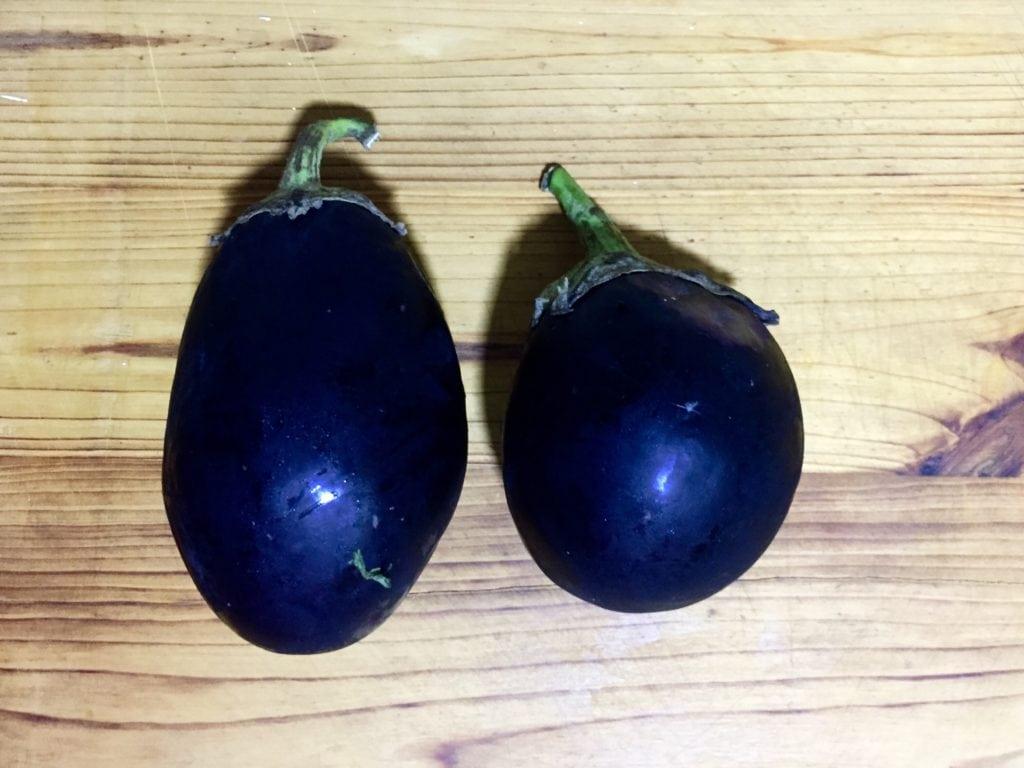 Take two eggplants.