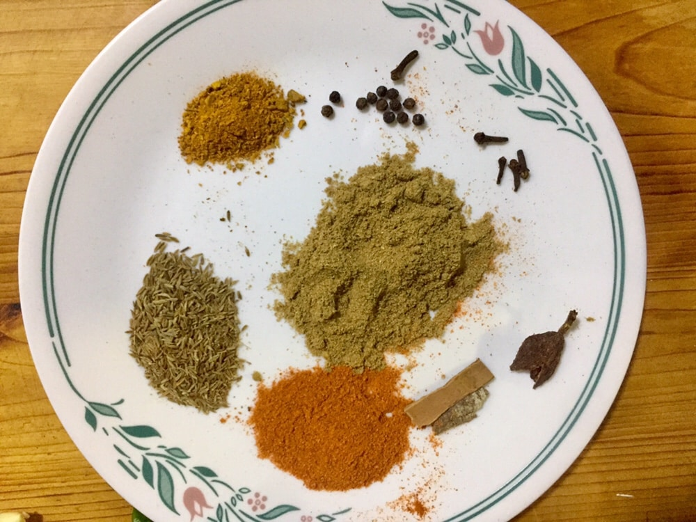 Spices for meat.