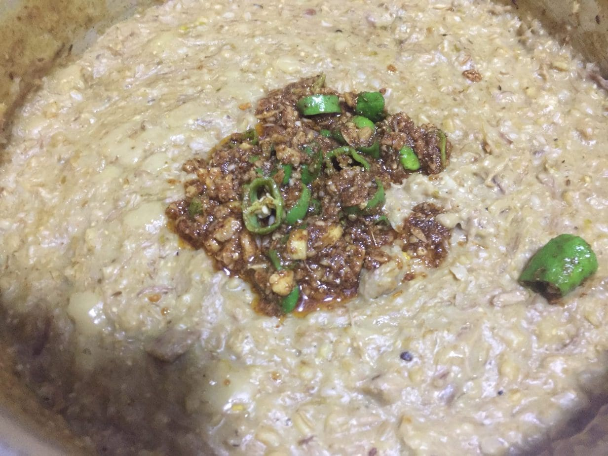 mix tempering in haleem.