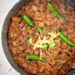kaleji fry masala served in a plate.