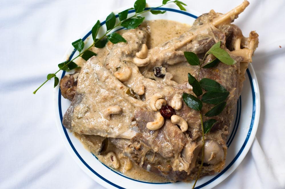 mutton leg recipe