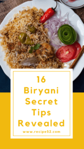 biryani tips