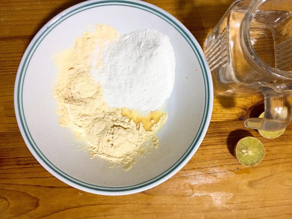 Make coconut base.
