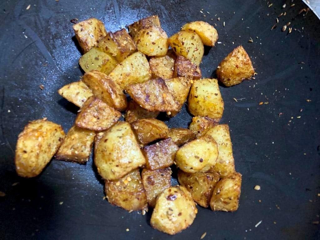 deep fried potatoes