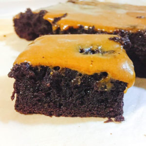 Moist salted caramel brownie