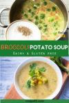 Broccoli potato soup pin it image.