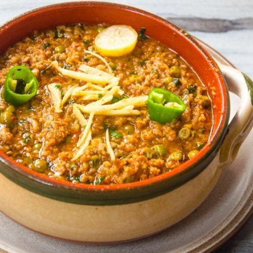 Keema matar curry