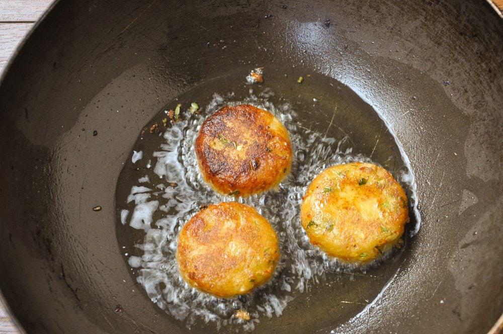 Fry in hot oil.