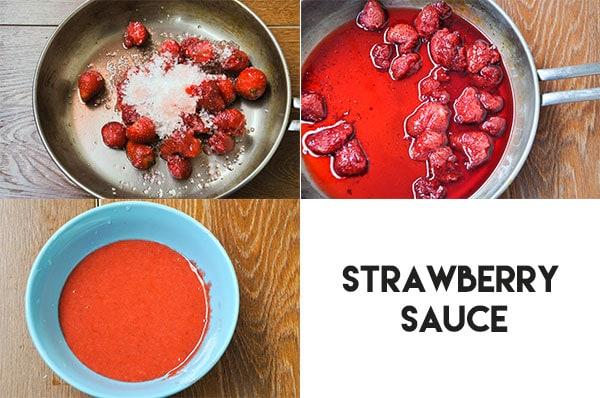 Gluten-free strawberry sauce for dessert.