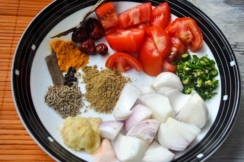 Ingredients for masoor daal
