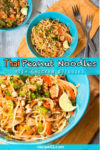 peanut chicken noodle asian style