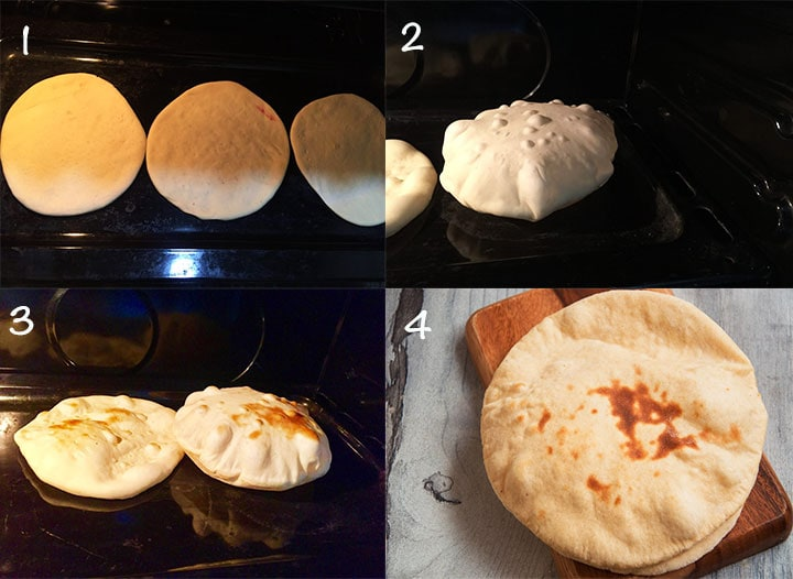 Steps to bake Pita bread in oven