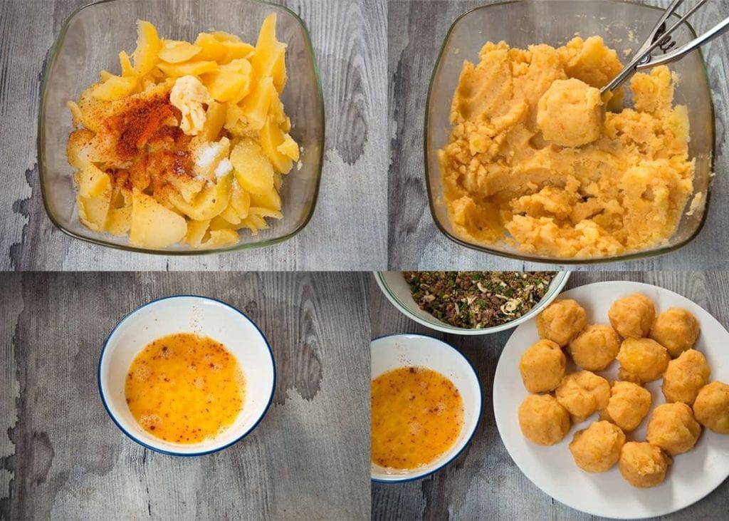 Steps to make mashed potato for tikki.