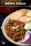 Keema served in a plate.