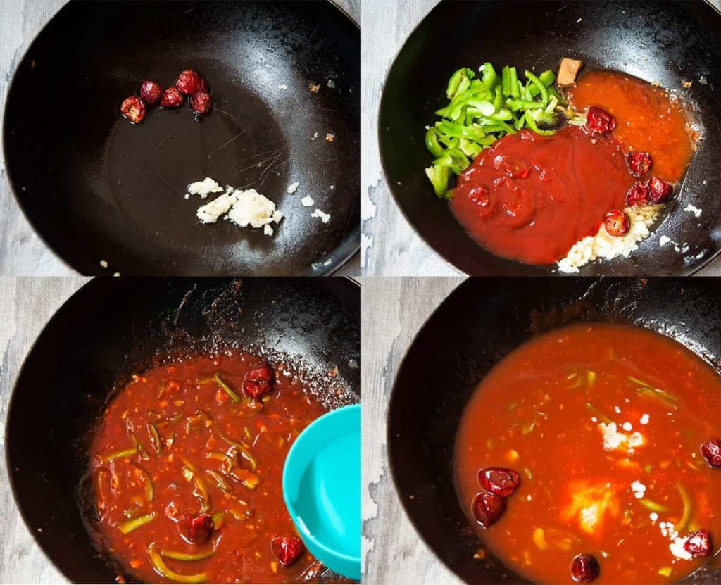 Steps to make sauce.