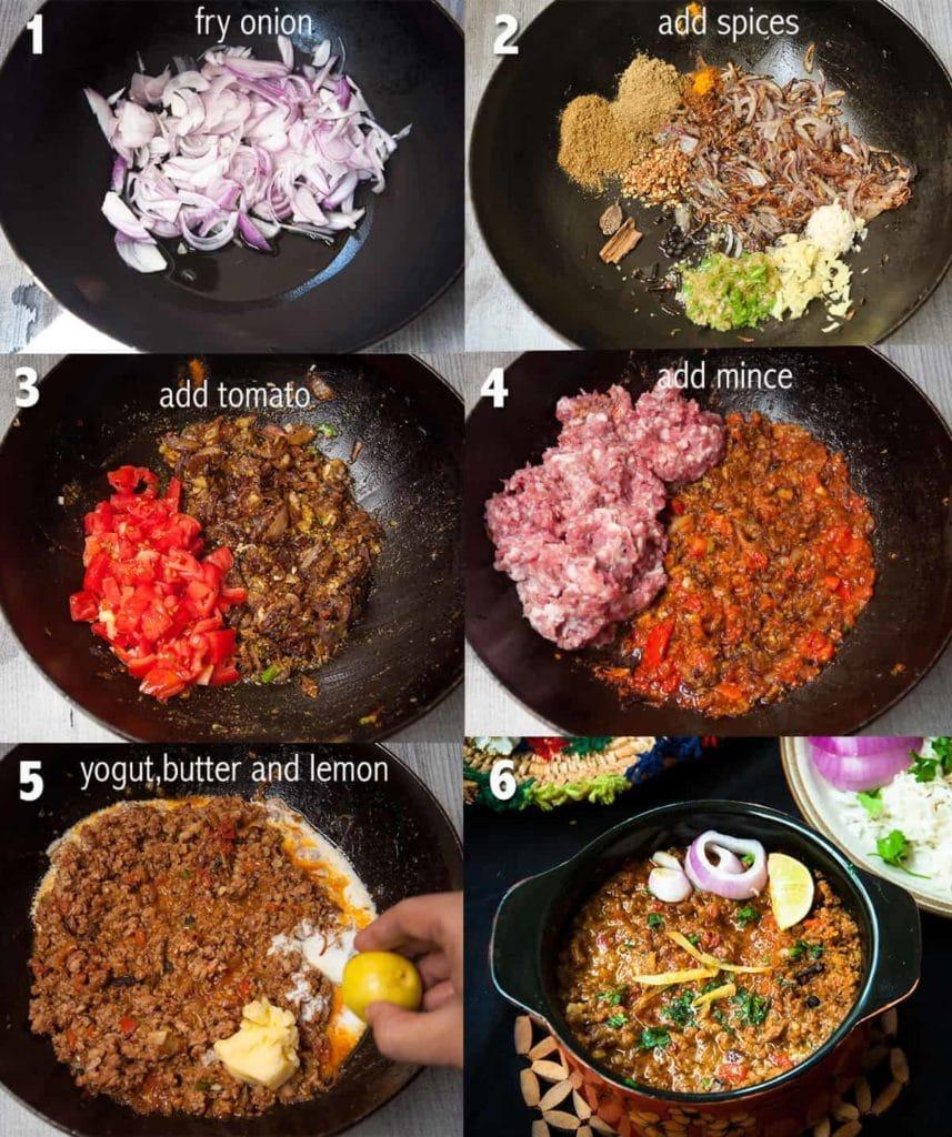 Steps to make Keema.